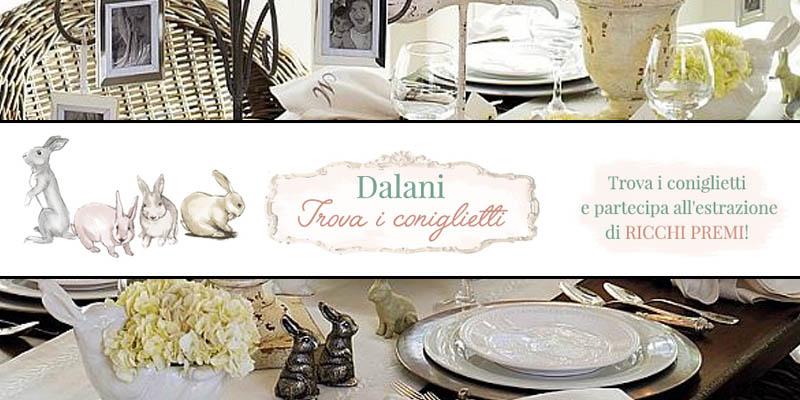 trova i coniglietti e vinci con Dalani