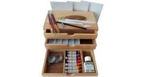 valigetta kit per dipingere a olio
