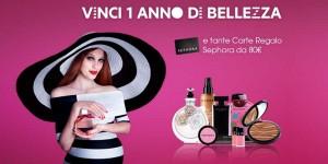 vinci 1 anno di bellezza con Sephora