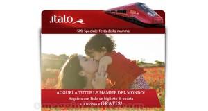 Italo Treno promozione Festa della Mamma 2015
