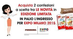 Vinci Expo 2015 con le merendine Kinder in edizione limitata