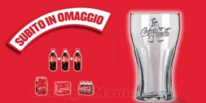 bicchieri Coca Cola di vetro omaggio