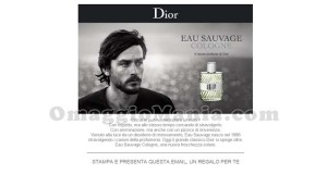 campione omaggio profumo Dior Eau Savage Cologne