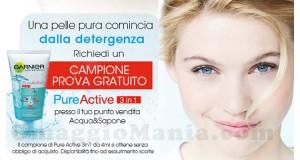 campione prova gratuito Garniere Pure Active 3 in 1 da Acqua & Sapone