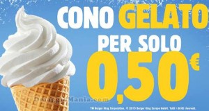 cono gelato a 0,50€ da Burger King
