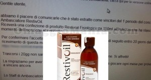 restivoil Fisiologico gratis - Ambasciatore RestivOil Sabry77