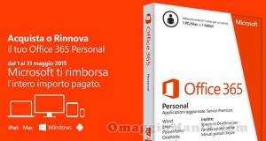 rimborso Office 365 Personal