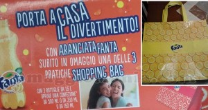 shopping bag omaggio con Fanta