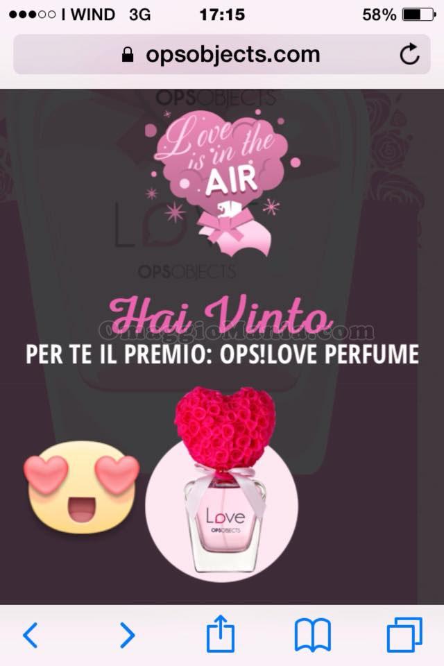 vincita profumo Love Ops Objects Mirela Adina