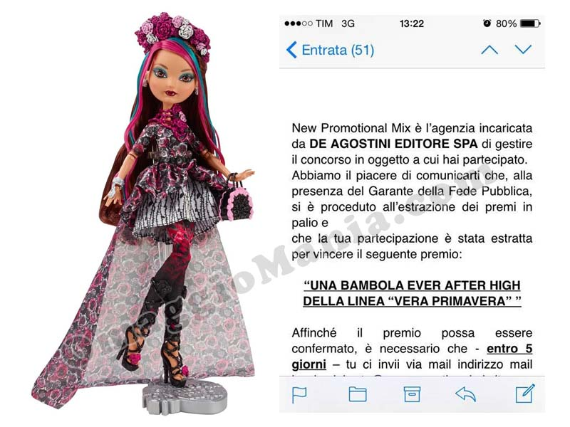 vinta bambola ever after high