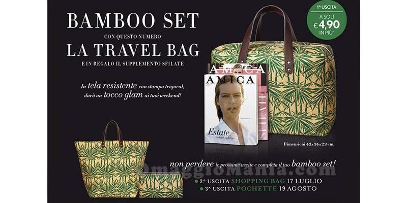 bamboo set con la rivista Amica
