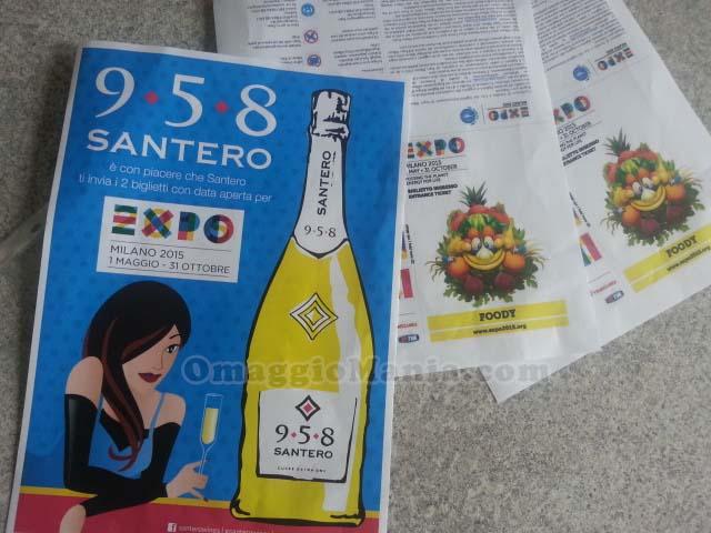 biglietti Expo Milano 2015 gratis con Santero