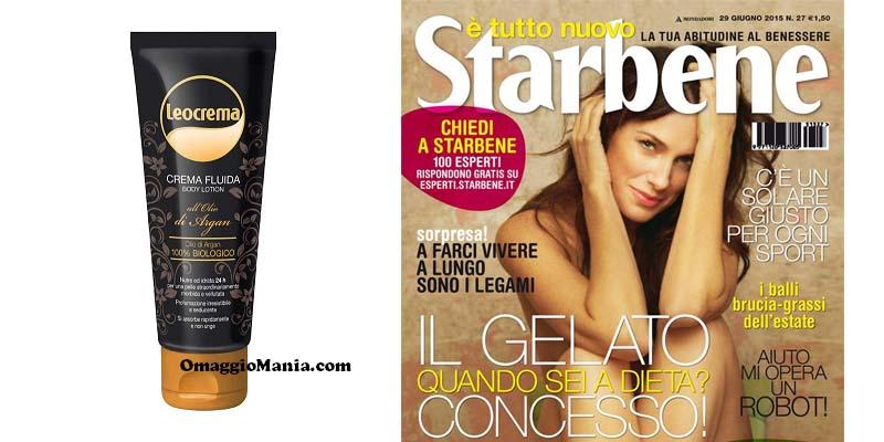 body lotion omaggio con Starbene