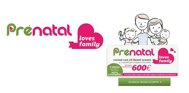 buoni sconto Prenatal Loves Family