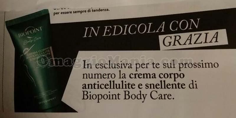 crema corpo anticellulite BioPoint con Grazia