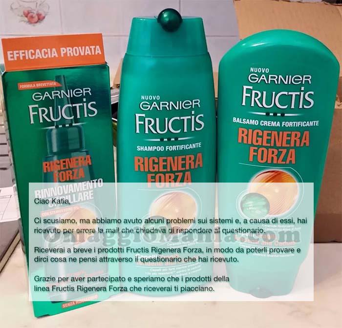 email errore-sorpresa Garnier Fructis Rigenera Forza