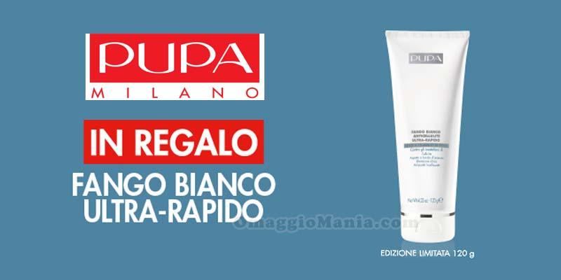 fango bianco Pupa Milano in omaggio
