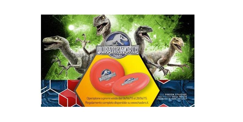 frisbee Jurassic World omaggio da Toys Center