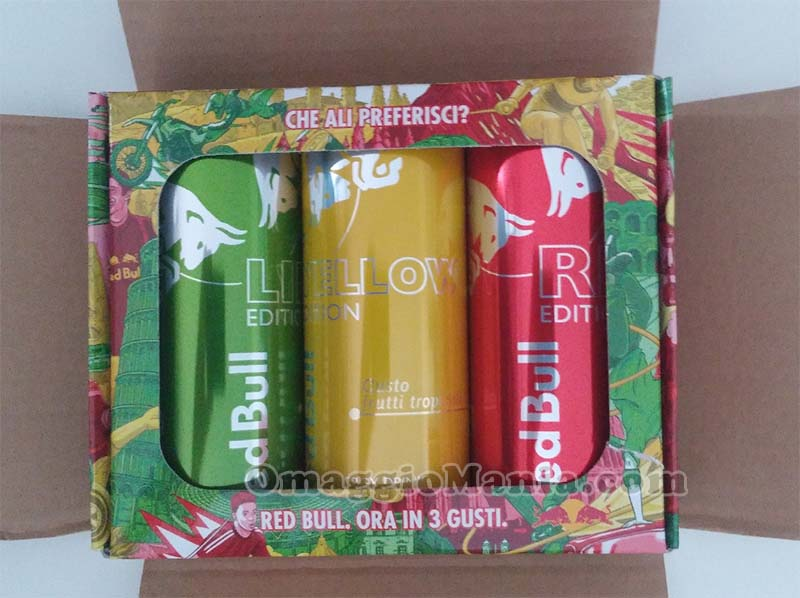 lattine Red Bull Editions ricevute da Lina