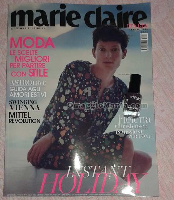 smalto Deborah con Marie Claire di luglio 2015