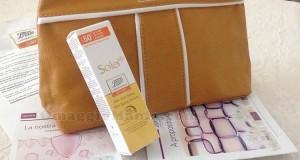 solare e pochette Boots Laboratories ricevuta da Elisa
