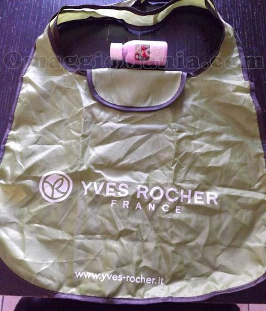 bag Yves Rocher e latte vellutato al lampone in omaggio