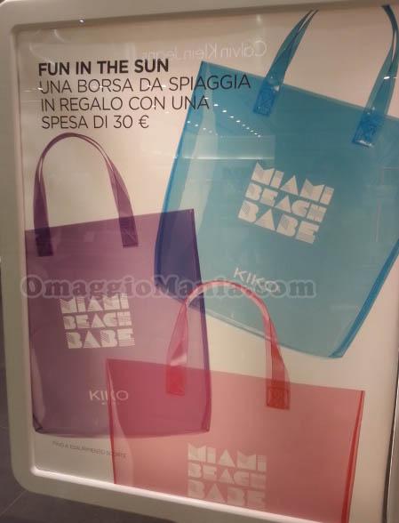 borsa da spiaggia in regalo da KIKO Milano