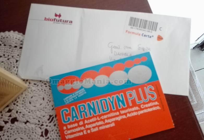 campione omaggio Carnidyn Plus ricevuto da Daniela