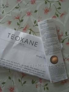 campione omaggio Teoxane ricevuto da Veronica