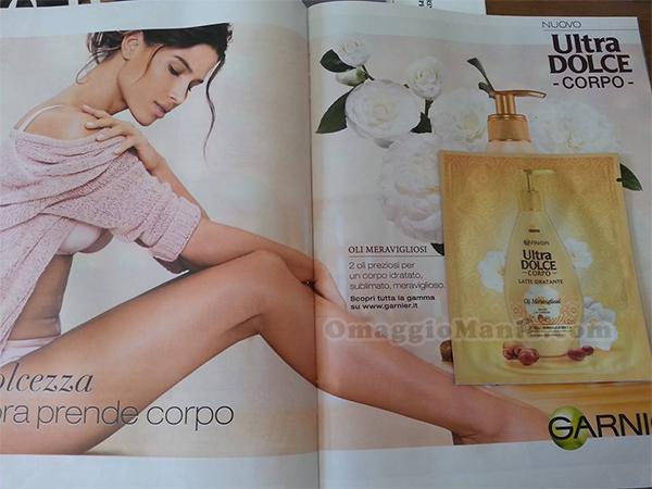campione omaggio Ultra Dolce Corpo Garnier con la rivista Grazia-TuStyle