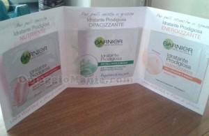 campioni omaggio Garnier Idratante Prodigiosa ricevuti da Immacolata