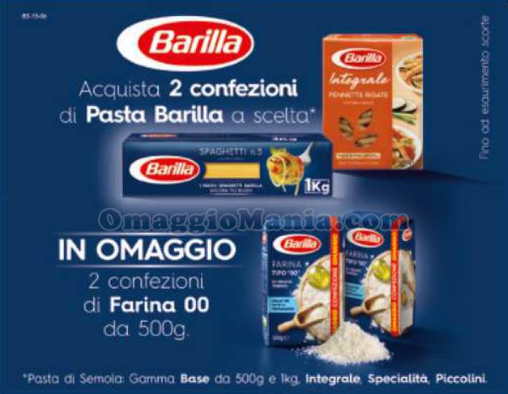farina Barilla in omaggio con Pasta Barilla