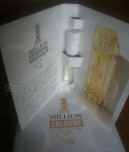 fialetta omaggio profumo 1 Million Cologne ricevuto da Giada