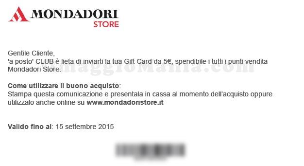 gift card Mondadori gratis con APosto