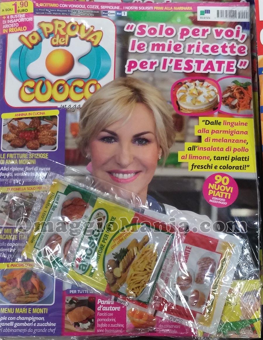 insaporitori Ariosto omaggio con La Prova del Cuoco