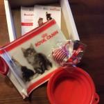 kit gatto ricevuto in omaggio da Sandra