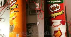 kit karaoke Pringles di Tiziana