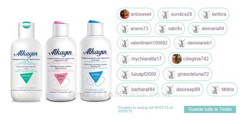 lista tester detergente intimo Alkagin