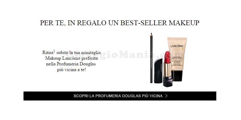 minitaglia makeup Lancome in omaggio