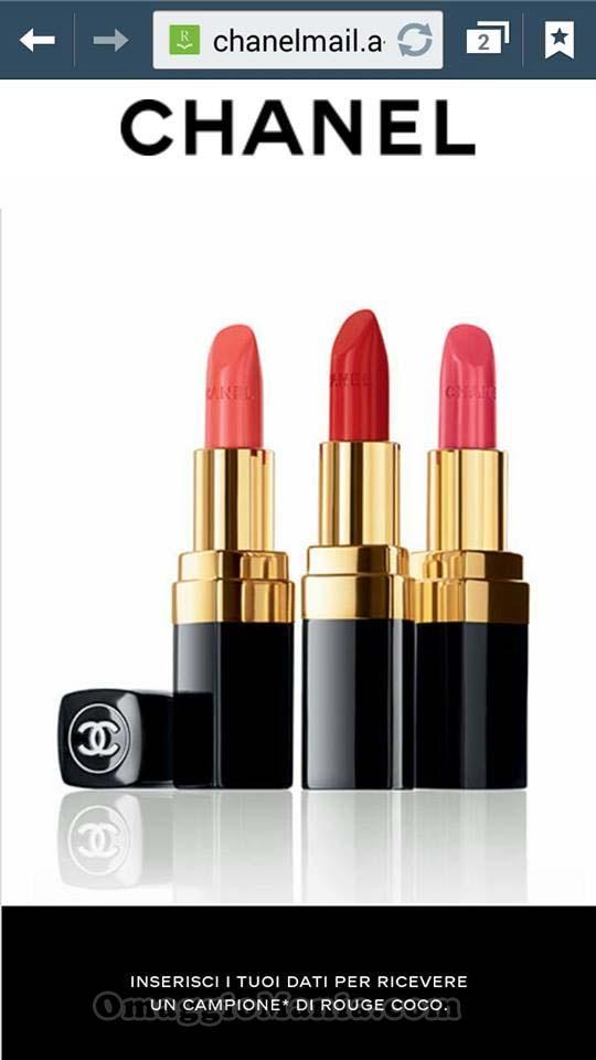 richiedi un campione omaggio di Chanel Rouge Coco