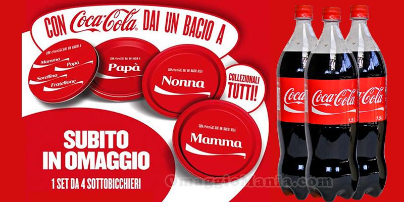 sottobicchieri omaggio con Coca Cola