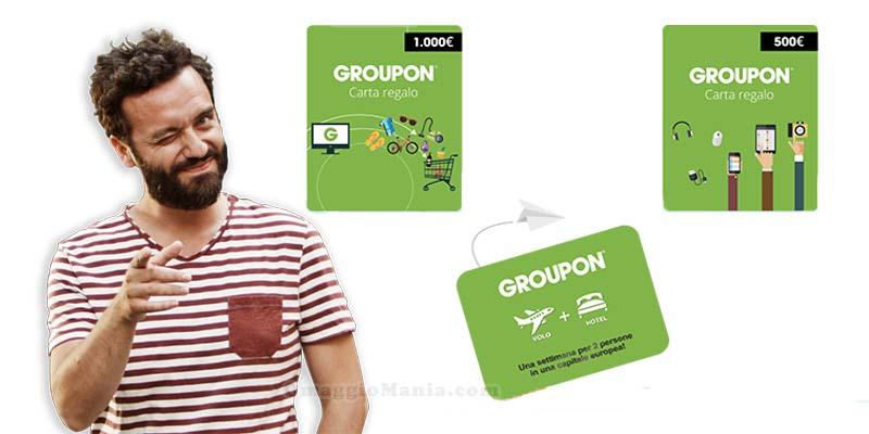 vinci credito Groupon con Restate in città