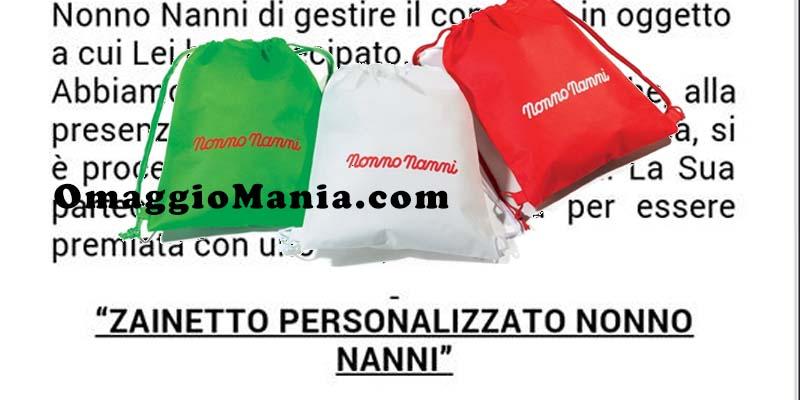vincita zainetto Nonno Nanni