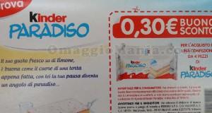 buono sconto Kinder Paradiso su Kinder fetta al latte