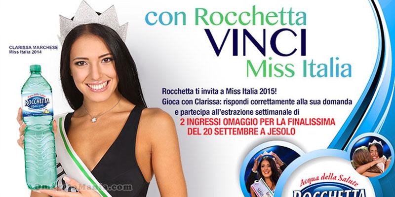 concorso Finalissima Miss Italia 2015 con Rocchetta