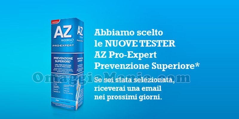 nuove tester AZ Pro-Expert Prevenzione Superiore