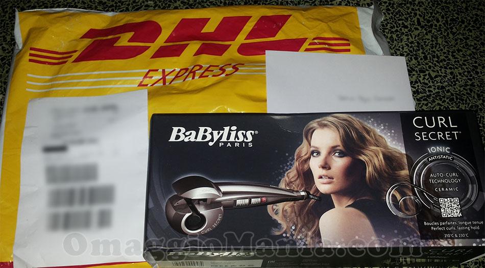 piastra arricciacapelli BaByliss Curl Secret vinta gratis da Marina