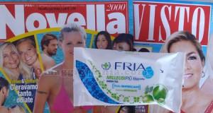 salviette FRIA omaggio con Novella 2000 e Visto