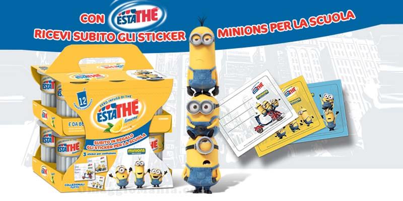 stickers Minion omaggio con Estathe