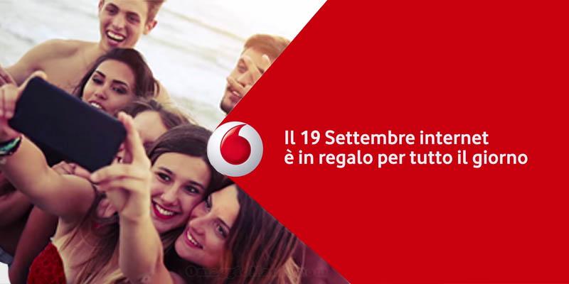 19 settembre Internet in regalo da Vodafone